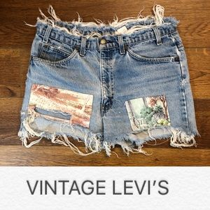 Vtg Levi's Destroyed Cutoff Shorts Distressed 32""